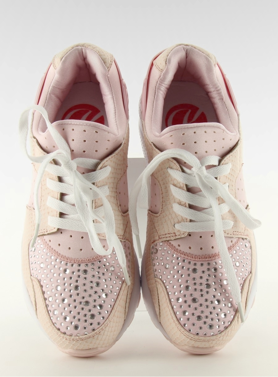 Dámske ružové tenisky s kamienkami - k1730302  8894c541d8b
