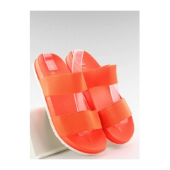 Oranžové šľapky s gumenými páskami - js-5274