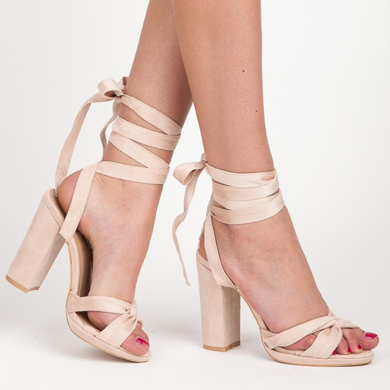 c229b8c6f08 Elegantné béžové dámske sandále s viazaním - 1222-14BE