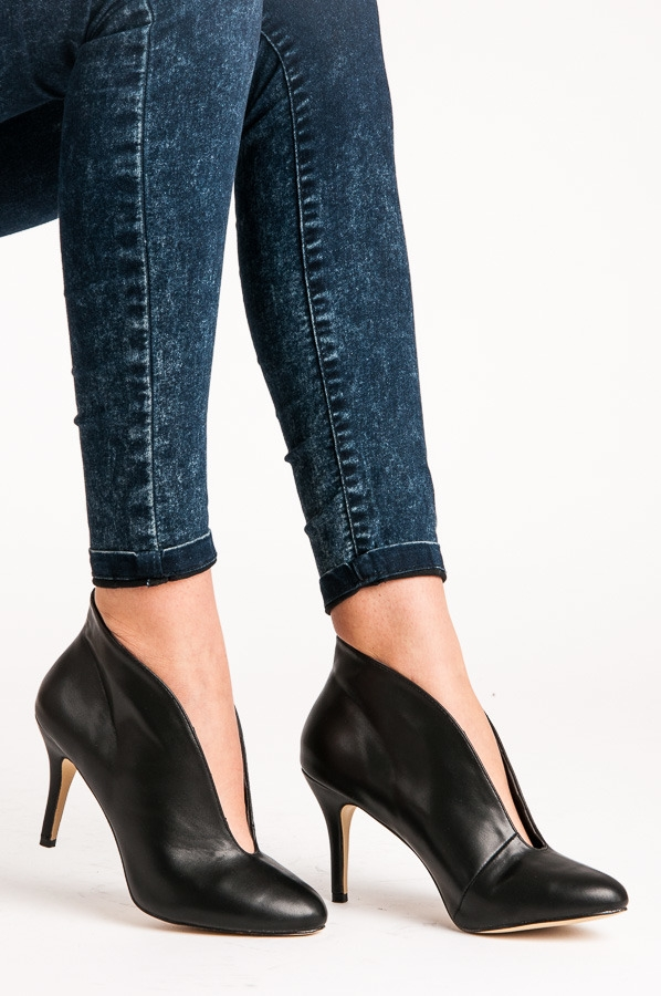 d7e1ff0f08c0 Luxusné dámske čierne topánky - 1413B