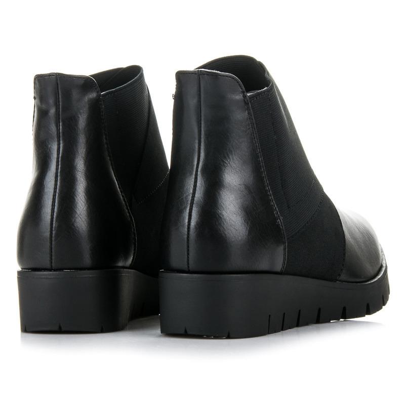 de7dbd66bd8a7 Dámske čierne členkové topánky na platforme - STI17-8334B | dawien.sk