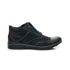 Pánske modré kožené topánky - 244N