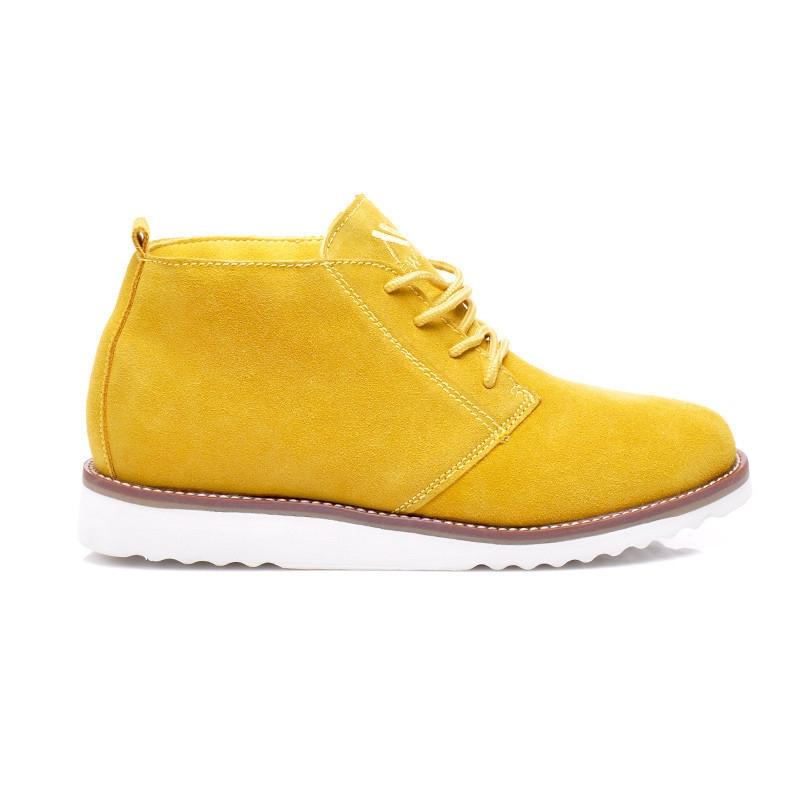 Dámske žlté kožené topánky - WS1272Y  aeef9e5545