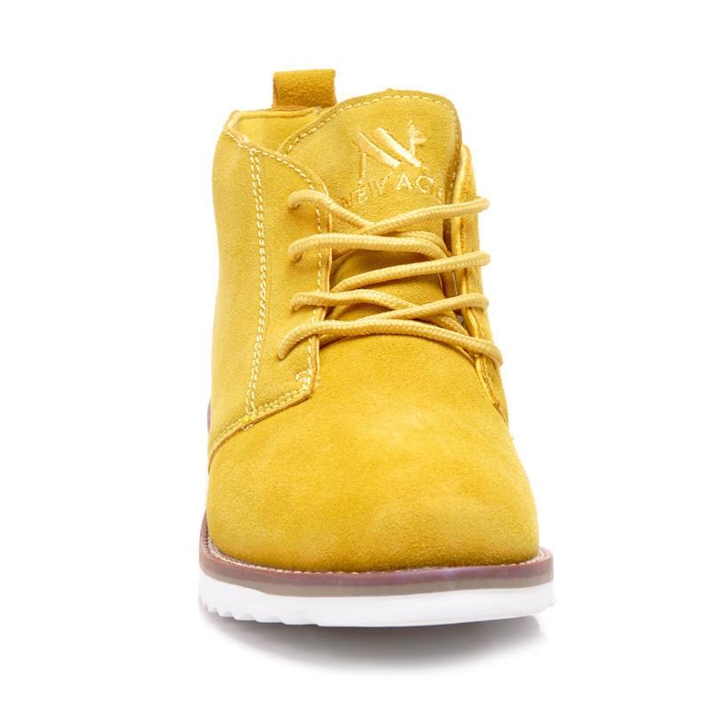 000aacad996f Dámske žlté kožené topánky - WS1272Y