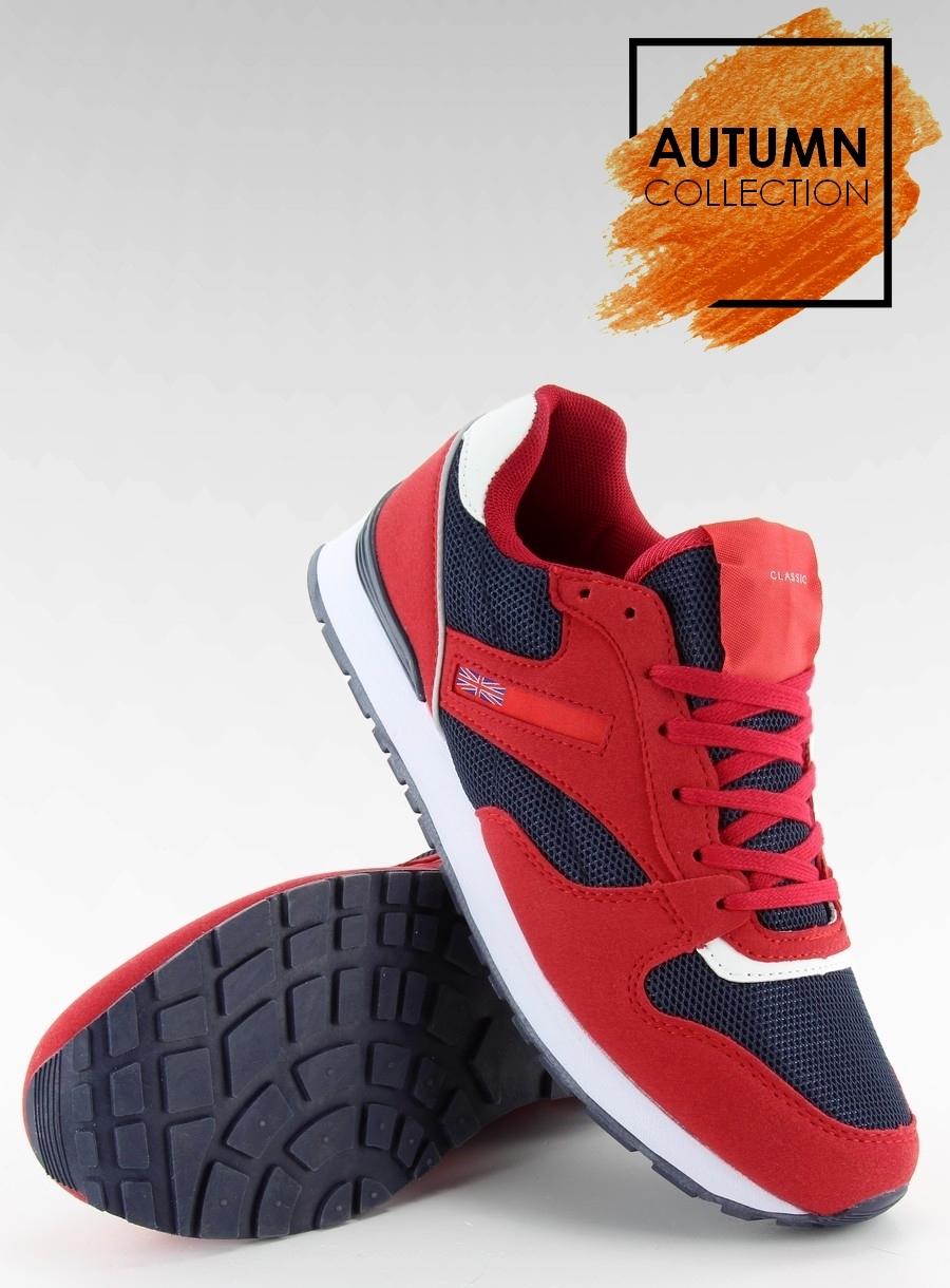 Dámske červeno modré športové tenisky - D81  a5670bc44af