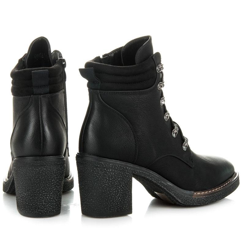 26d2104454 Dámske čierne šnurovacie členkové topánky - RB02B