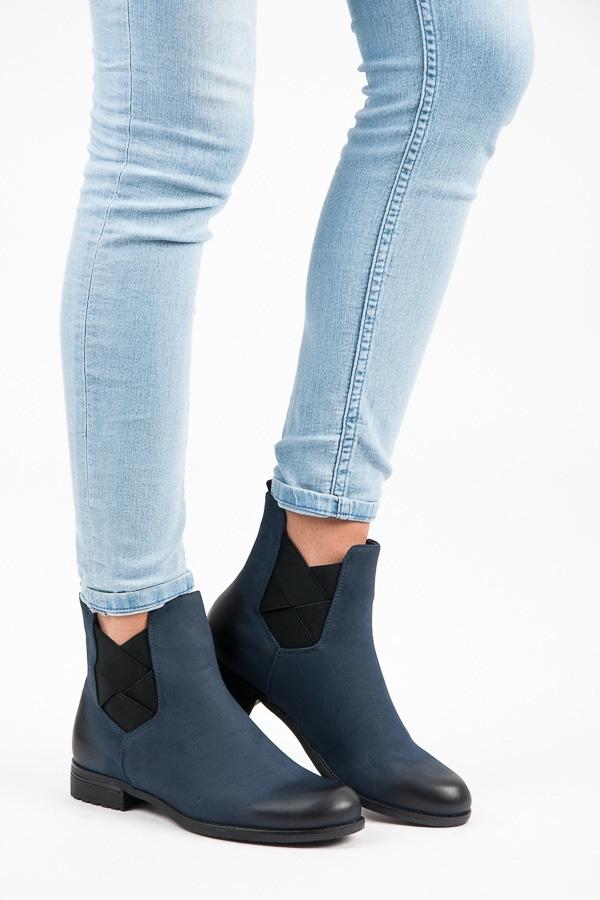 Dámske tmavo modré členkové topánky - HX18-2575N  becd7c3b116