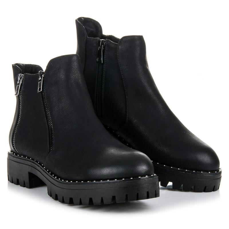 ff15a136ba8f Dámske čierne členkové topánky na platforme - K1719602NE