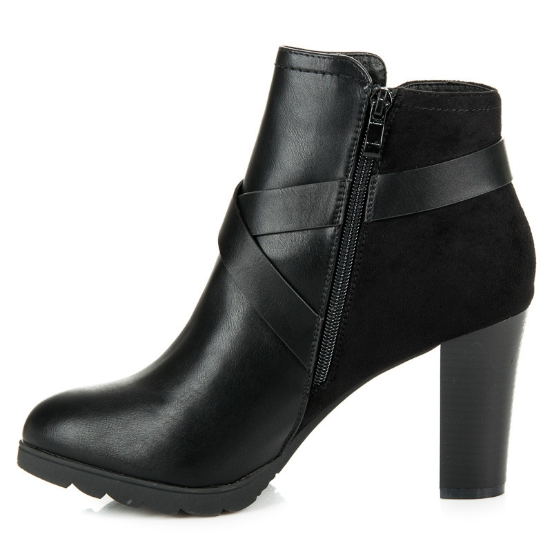 61f793ad5205 Dámske čierne elegantné topánky na stĺpcovom podpätku - 1264-GA-B ...