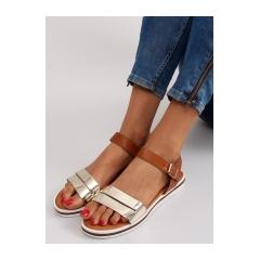 Dámske ploché hnedé sandále - 7l151