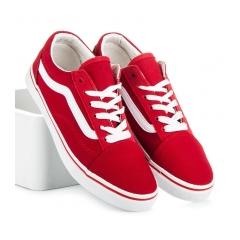 Klasické dámske červené tenisky - KA19-19R