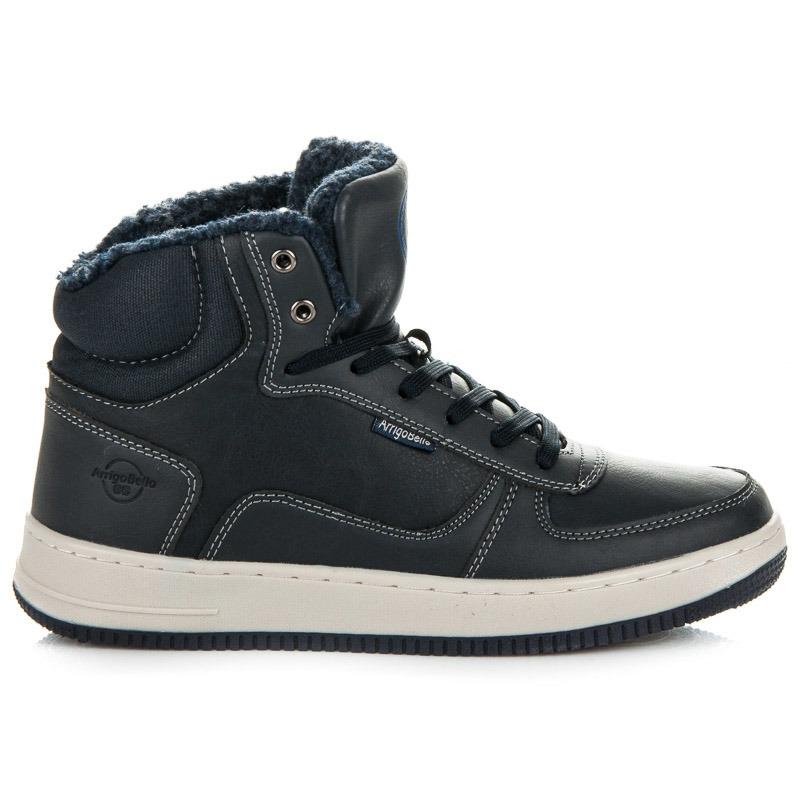 c0bcbe6a4652 Pánske modré zateplené členkové topánky - A7328N