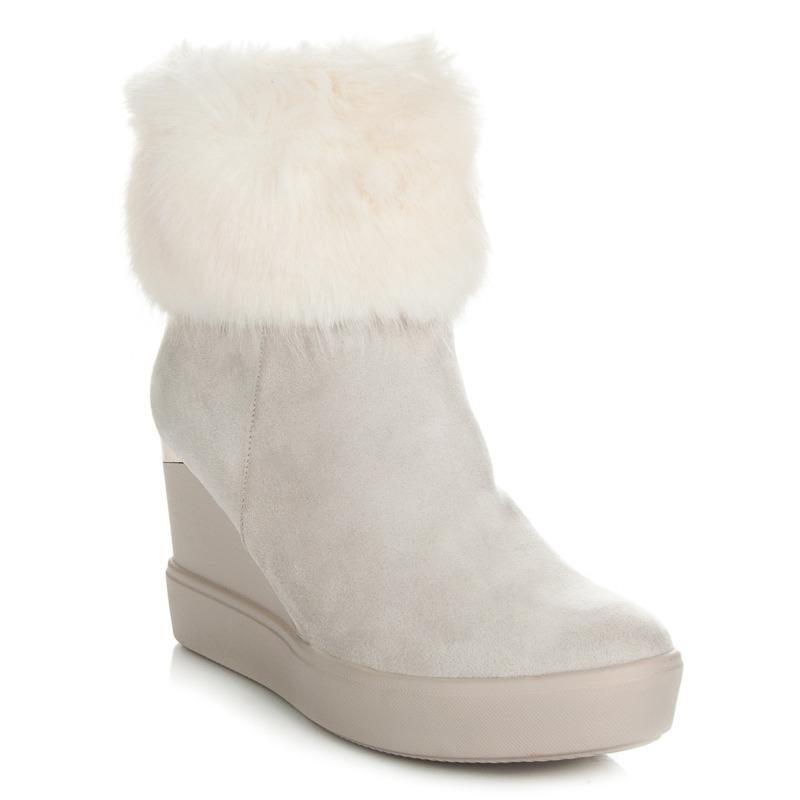 59c7c2e67822 Dámske biele členkové topánky na platforme - K1710801BLA