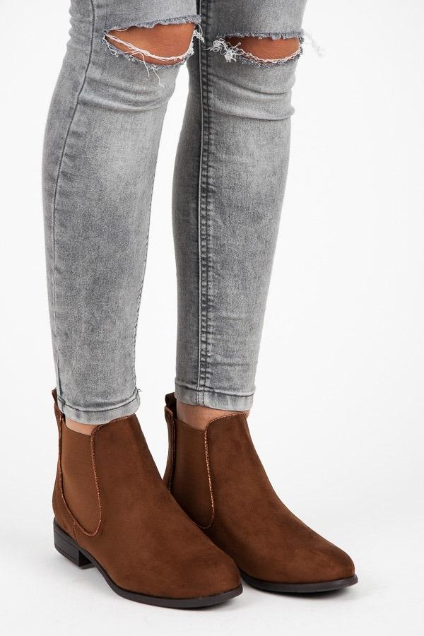 1ecd608f02a3 Dámske hnedé semišové topánky - A89622C