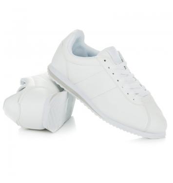 Štýlové dámske biele tenisky - 8849W