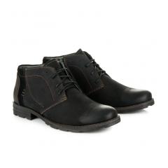 Pánske čierne členkové topánky - 270B