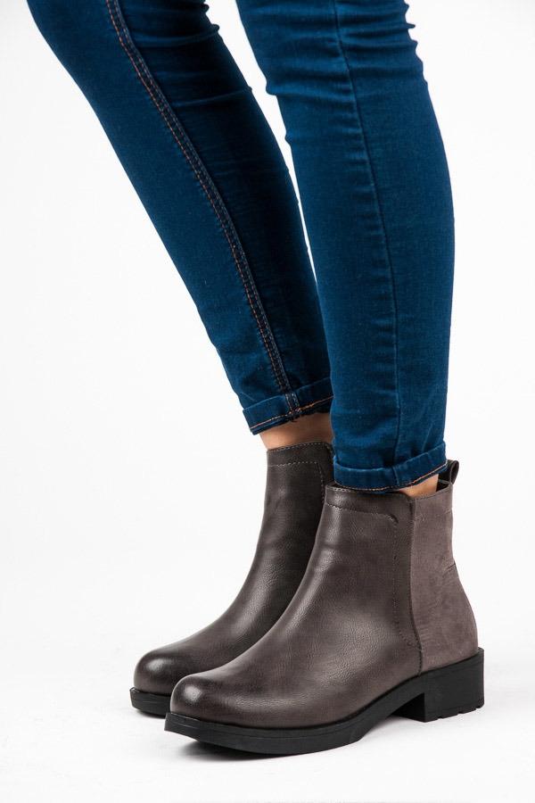 adc5d51ac4fe Dámske pohodlné šedé topánky - 10-126G