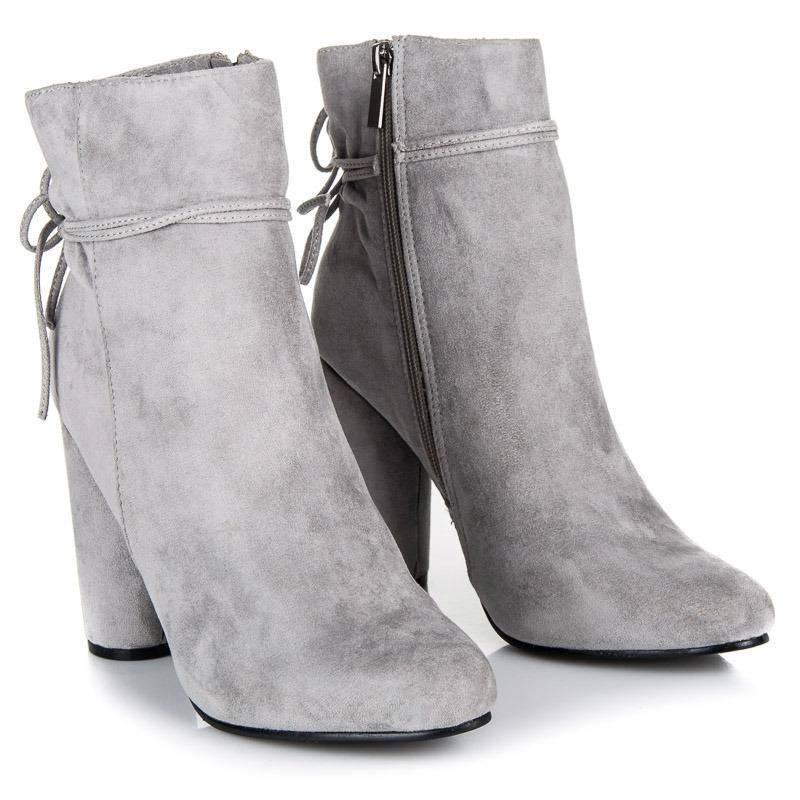 f2cff9e70e Dámske šedé semišové členkové topánky - 9070-7L.G