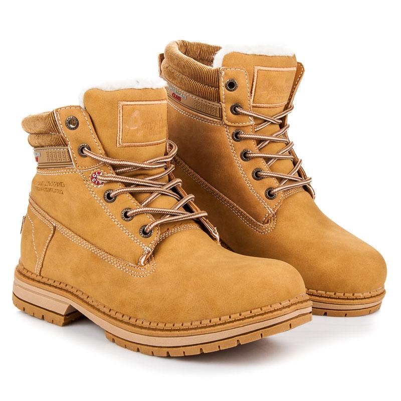 1746d6c8b7b0 Dámske hnedo-béžové členkové topánky na šnurovanie - 8610085-W-1TA ...