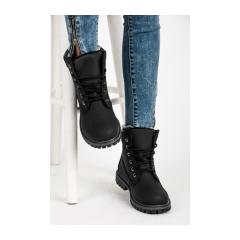 6cc17e5a83e1b Dámske čierne topánky na šnurovanie - 35-188NE