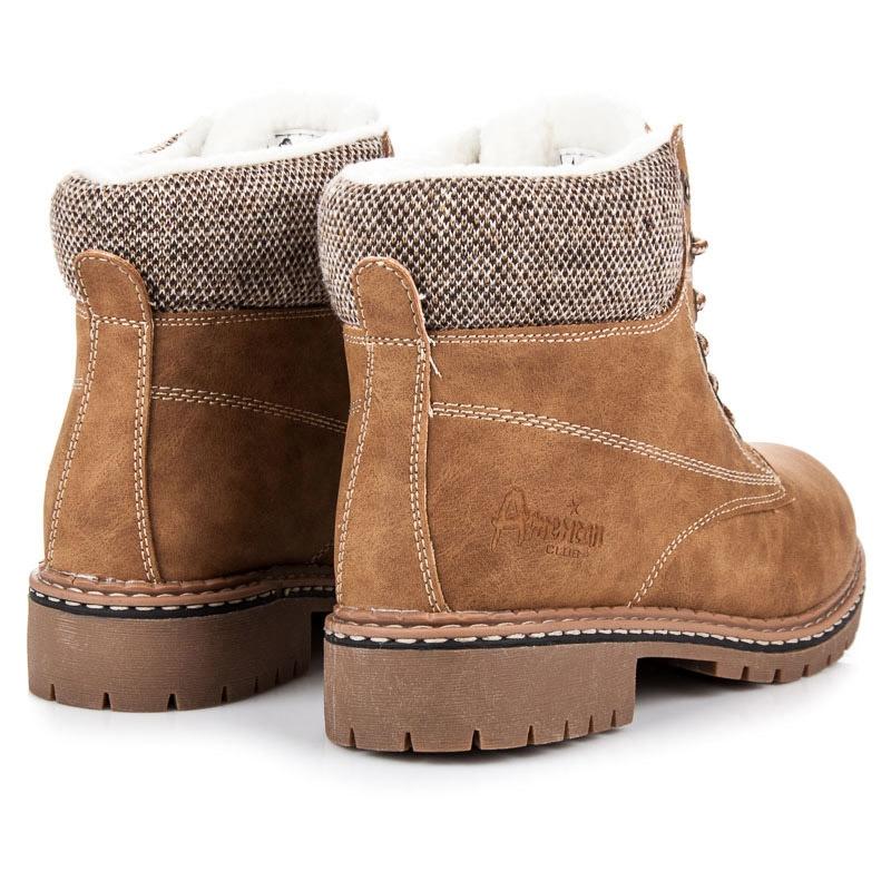 0377ffc73 Dámske hnedé členkové topánky na zimu - TL1904-2TA | dawien.sk