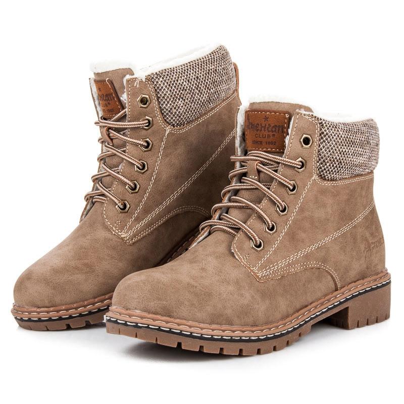 Dámske béžové zateplené topánky na zimu - TL1904-2BE  f0f28e4d39