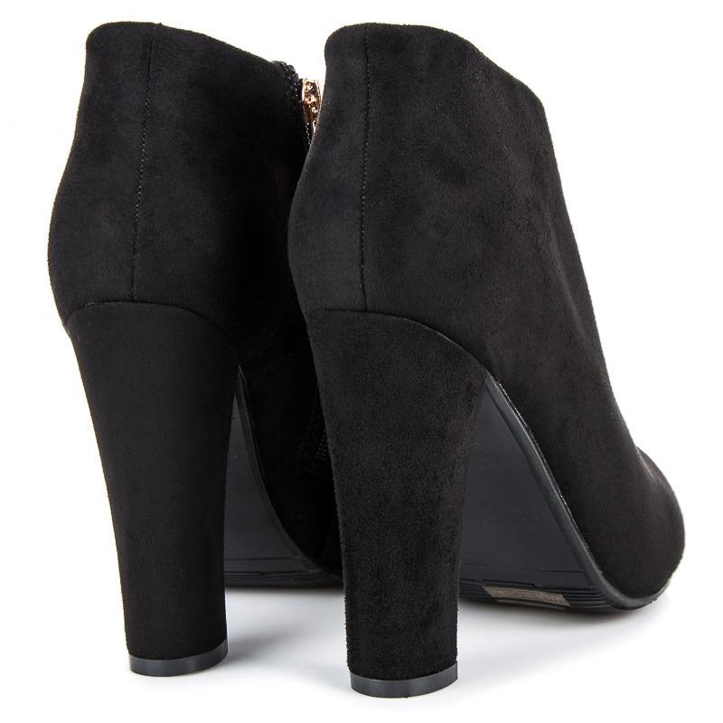 0a5c49a74225 Elegantné dámske čierne členkové topánky - AF80B