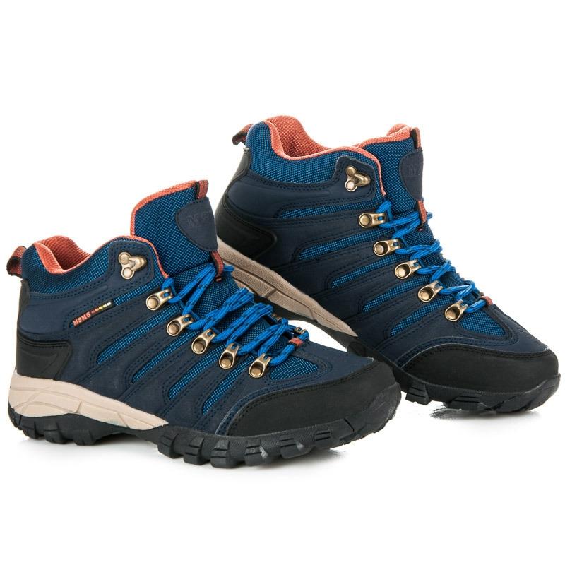 bf66d9c66f7ac Dámske modré trekingové topánky - FS302N | dawien.sk