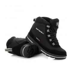 Dámske čierne trekingové topánky - 102SB957-4B