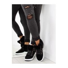 Originálne dámske čierne zateplené tenisky - 16-529 2b6a1e3f846