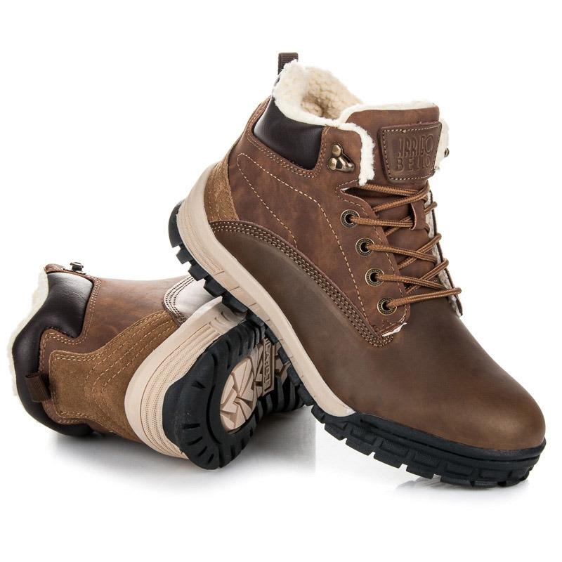 8b424b7b5f9a Pánske hnedé zateplené členkové topánky - A6453BR