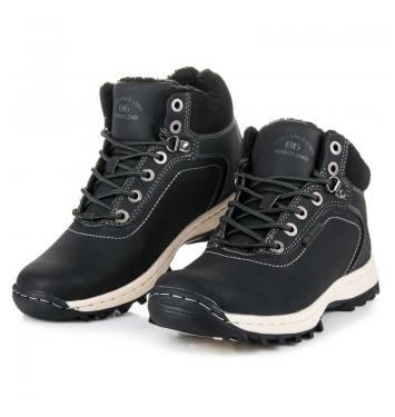 Pánske čierne trekingové topánky - AP7445B