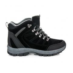 Pánske čierne trekingové topánky - FS100B
