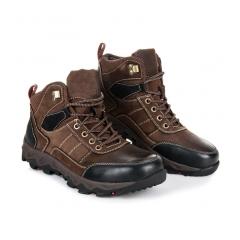 Pánske hnedé trekingové topánky - SD96-8COF