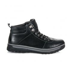 Pánske čierne kožené workery - SD92-1B