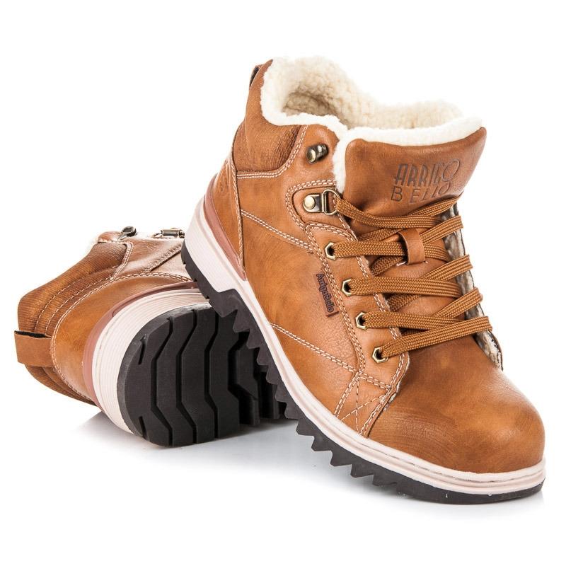 4b7a88876990 Pánske hnedé zateplené členkové topánky - A7307C