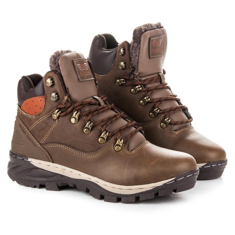0808632afe13 Pánske hnedé zateplené členkové topánky - A7352KH