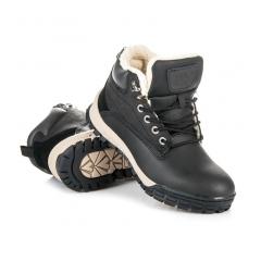 Pánske čierne členkové topánky - A6453B