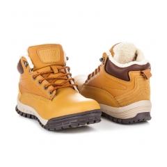 Pánske hnedé členkové topánky - A6453Y