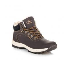Pánske hnedé zateplené trekingové topánky - AP7445DK.BR