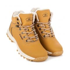 Pánske žlté zateplené trekingové topánky - AP7445Y