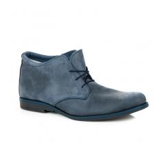 Pánske modré zateplené členkové topánky - 205BL