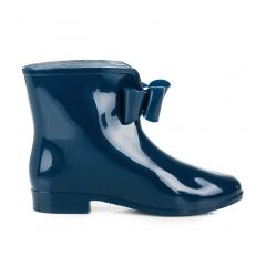 Dámske modré gumáky s mašľou - NA1310-5N