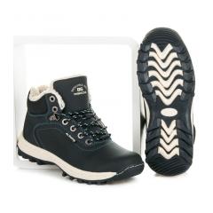 Pánske modré zateplené trekingové topánky  - A6445N