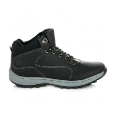 Pánske čierne trekingové topánky - A7274B