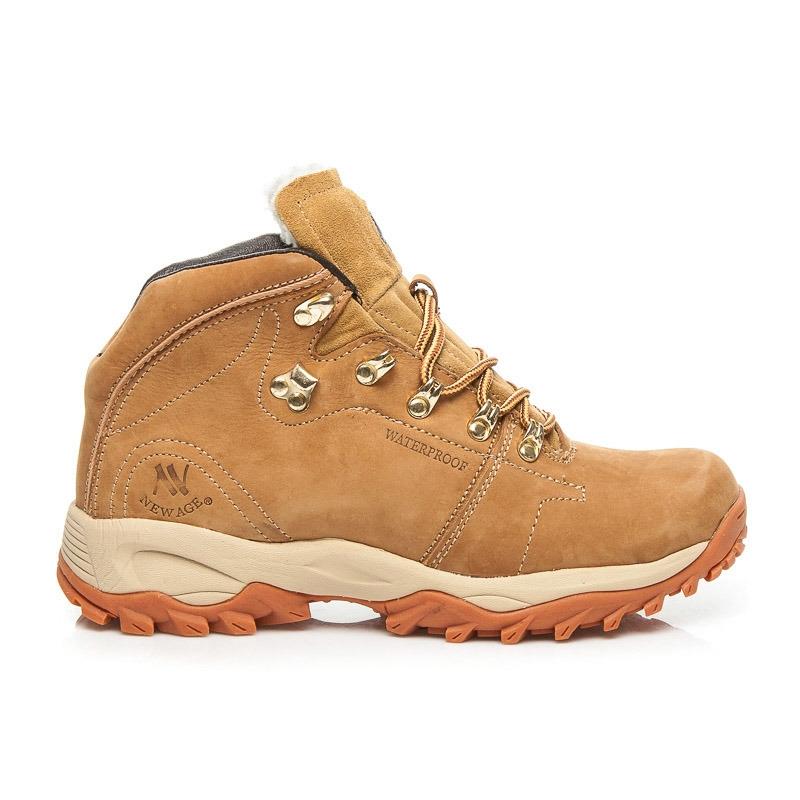 ef5866a9aa Pánske žlté kožené členkové topánky - 7006Y