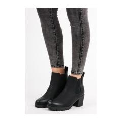 e68293ab47e57 Dámske čierne členkové topánky - W315B