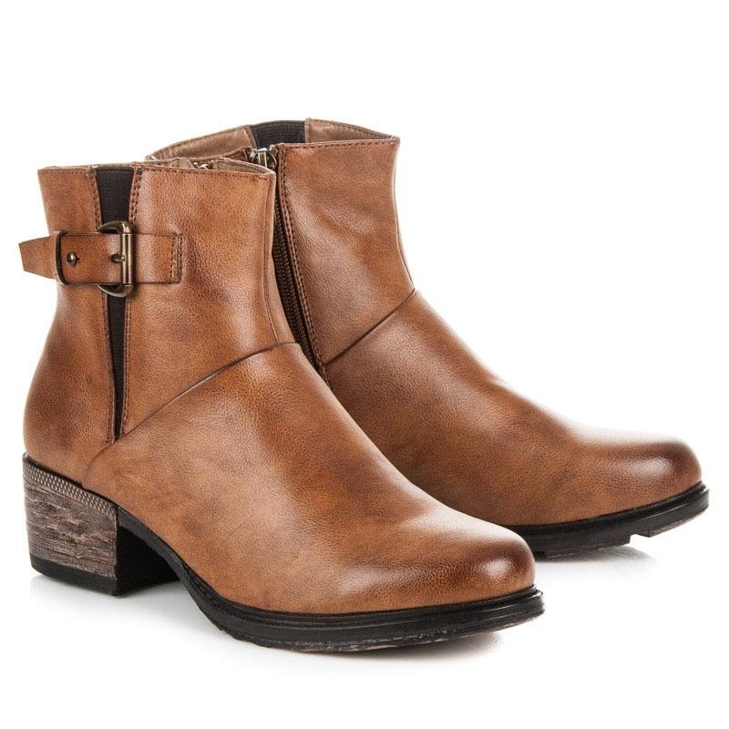 e13c00619dff Dámske hnedé členkové topánky - 3212C