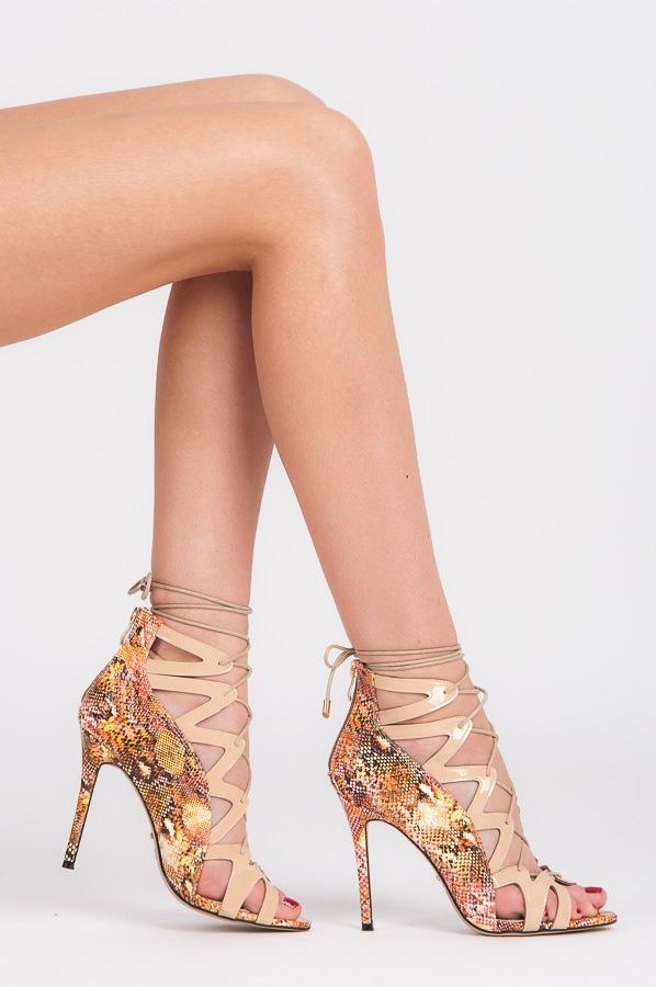 92decf7816df Dámske béžové šnurovacie sandále - 5014-14BE