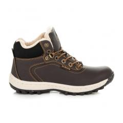 Dámske hnedé trekingové topánky - B6445DK.BR